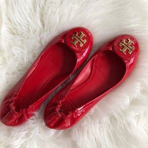 TORY BURCH FLATS - RED LEATHER ❤️❤️